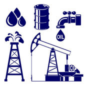 Oil industry icon  set symbol vector  illustration — Stock Vector