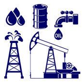 Oil industry icon  set symbol vector  illustration — Stock Vector