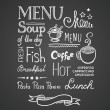 Menu — Stock Vector