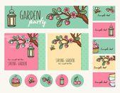 Garden party — Stock Vector