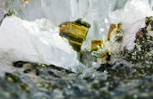 Pyrite and rock crystal — Stock Photo