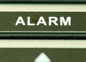 Alarm button — Stock Photo