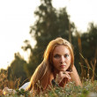 Woman laying on a meadow — Stock Photo #12006770