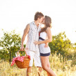 Young couple kissing — Stock Photo #12006779