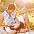 Young couple in the picnic — Stock Photo #12006781