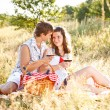 Couple in meadow — Stock Photo #12006782