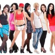 Large group of young women — Stock Photo #12039923