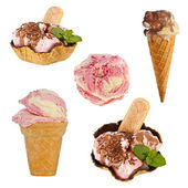 Collection of ice creams — Stock Photo