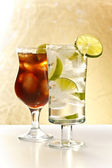 Vodka and cola — Stock Photo