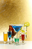 Cocktails with alcohol — Stock Photo