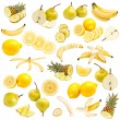 Yellow food collection — Stock Photo