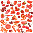 Red food collection  — Stock Photo