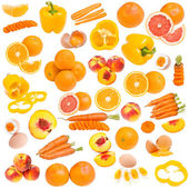 Orange food collection — Stock Photo