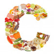 Letter C made of food — Stockfoto