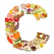 Letter C made of food — Stock Photo