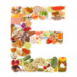 Letter E made of food — Stock Photo