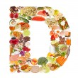 Stock Photo: Letter D made of food