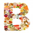 Letter B made of food — Stock Photo
