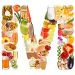 Letter M made of food — Stock Photo #12549730