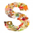 Letter S made of food — Stock Photo #12549758