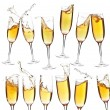 Collection of champagne glasses — Foto de Stock
