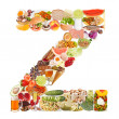 Letter Z made of food — Stock Photo