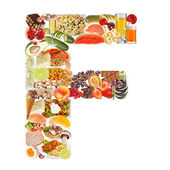 Letter F made of food — Stock Photo