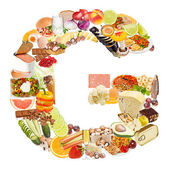 Letter G made of food — Stock Photo