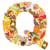Letter Q made of food — Stock Photo