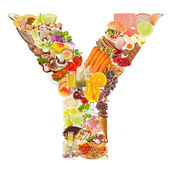 Letter Y made of food — Stock Photo