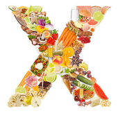 Letter X made of food — Stock Photo
