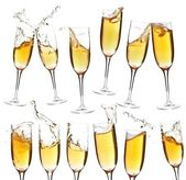 Collection of champagne glasses — Stockfoto