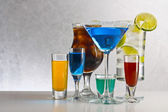 Cocktails with alcohol — Foto Stock