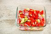 świeży pomidor sałatka — Zdjęcie stockowe