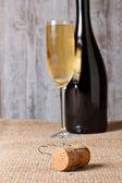 Champanhecoração para um jantar — Fotografia Stock