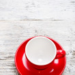 Foto Stock: Red coffee cup