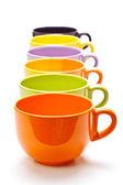 Fila de tazas — Foto de Stock