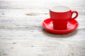 Red cup coffee — Stock Photo
