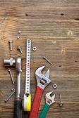 Equipamento de ferramenta de mão — Fotografia Stock
