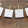 Paper card and clothes peg — Stock Photo