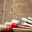 Set of paint brushes — Stock Photo