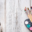 Stock Photo: Brush and paints