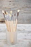 Group of paintbrushes — Stock Photo