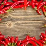 πλαίσιο από πιπεριές — Φωτογραφία Αρχείου