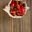 Peppers in bag — Stock Photo