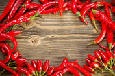 Frame from peppers — Stock Photo
