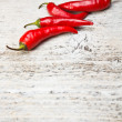 Red hot chili peppers — Stockfoto #13725623