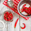 Stock Photo: Red chilli peppers