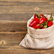 Stock Photo: Chilli peppers in bag