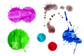 Splashes of paints — 图库照片